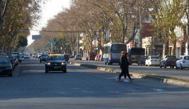 un corredor muy concurrido. El proyecto incluye paradas especiales en el centro de la avenida San Martín