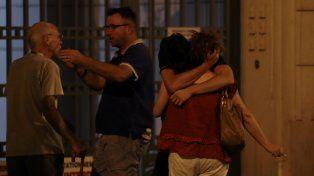Horror. Conmocionados y perplejos testigos del ataque en Niza.