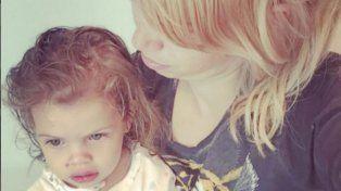 Wanda Nara y la pequeña Francesca.