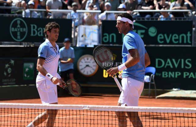 Argentina ganó el dobles y se impone por 2-1 frente a Italia en la serie de cuartos de final de la Davis