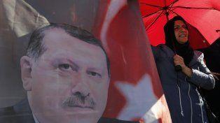 Festejo. El presidente Erdogan