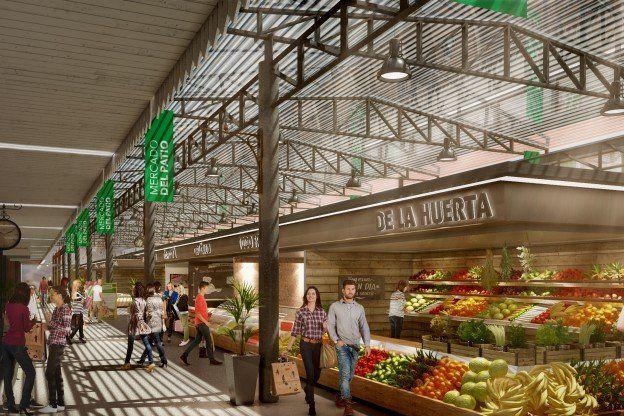 proyecto. El mercado se prevé que tenga entre 40 y 50 locales para proyectos alimenticios locales y regionales.
