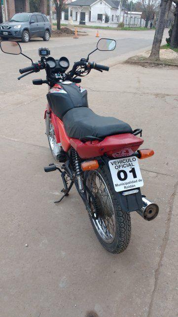 Una moto tiene cámara de vigilancia.