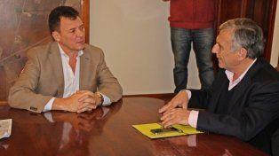 Reciprocidad. El intendente Raimundo y su par Maiocco acordaron acciones.