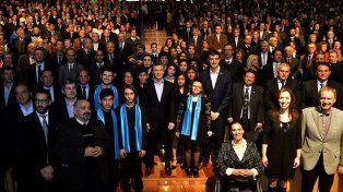Compromiso. En el Centro Cultural Kirchner el presidente lanzó el programa Compromiso por la educación.