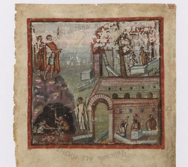 Portada de la Vergilius Vaticanus.