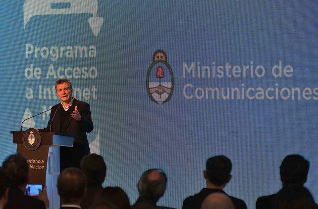 Anuncio. Macri presentó el Programa de Acceso a Internet Móvil.