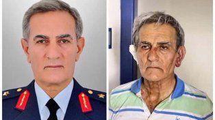 Antes y después. El jefe de la fuerza aérea Akin Oztürk