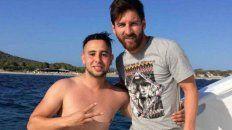 Lionel Messi y Suli que se encargó de destacar el buen trato que recibió del crack rosarino y su familia.