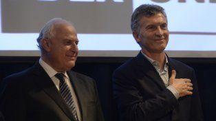 El gobernador Miguel Lifschitz y el presidente Mauricio Macri