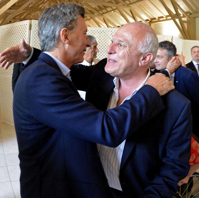 Otros tiempos. Macri y Lifschitz se prodigaron abrazos en Olivos en diciembre