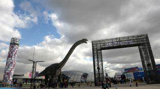 Imponente. El capítulo dedicado a los dinosaurios está entre los más visitados. Abren un espacio para las redes sociales.