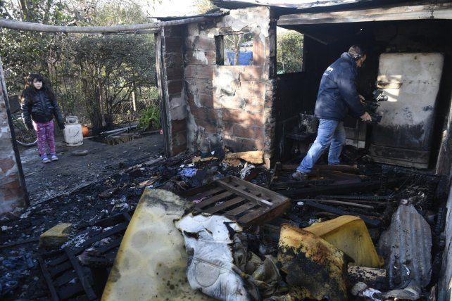 El lugar donde se produjo el siniestro. Los daños materiales fueron totales.