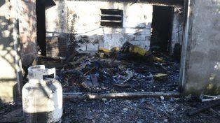 Las huellas del incendio y la explosión