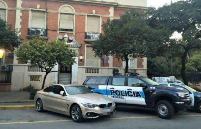 El BMW se encuentra en sede de la Policía Federal.