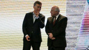 El presidente Mauricio Macri y el gobernador Miguel Lifschitz