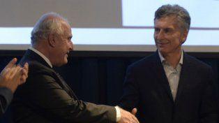 El gobernador Miguel Lifschitz y el presidente Macri
