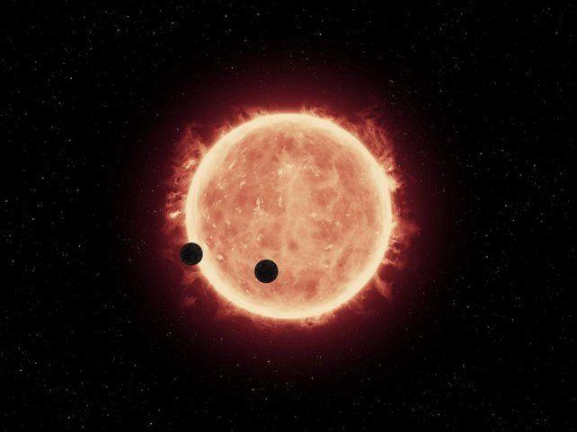 Vecinos. Recreación digital de los dos astros distantes 40 años luz.