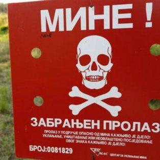 Más de un 2 por ciento del territorio de Bosnia-Herzegovina sigue minado veinte años después de la guerra (1992-1995) con unos 84.000 artefactos.