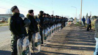 Gendarmes en Venado Tuerto.