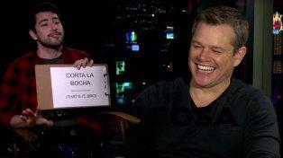 Matt Damon se animó a pronunciar frases argentinas y es furor en las redes