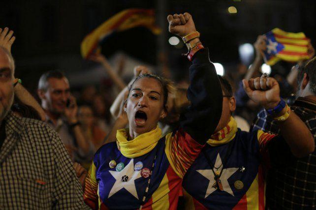En las calles. Los catalanes quieren plebiscitar su independencia de Madrid.