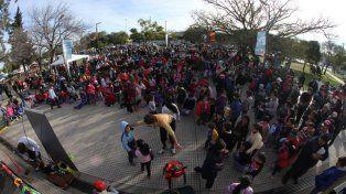 noroeste. Gran convocatoria tuvieron las actividades al aire libre con animadores en los parques de esa zona.