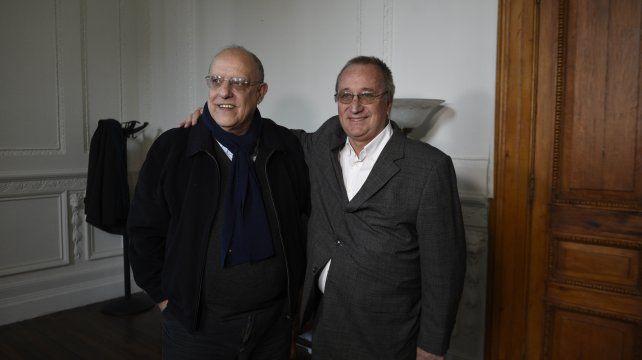 Unidos. El abrazo de Eduardo Bermúdez y Raúl Broglia fue un gesto para destacar. Los dirigentes entienden que su colega no es un enémigo.