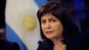 Patricia Bullrich, titular de Seguridad.