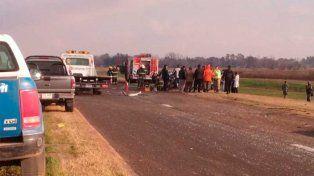 Un muerto y tres heridos en un triple choque en la autopista a la altura de Funes