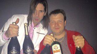 El Gigoló Bazterrica reapareció cargado de champain y con un mensaje desafiante