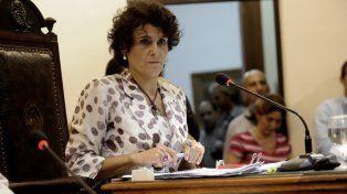 Contra el ajuste. La concejala kirchnerista Norma López.