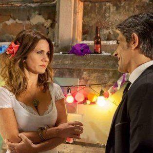 Nancy Dupláa yPabloEcharri, protagonistas de La Leona.