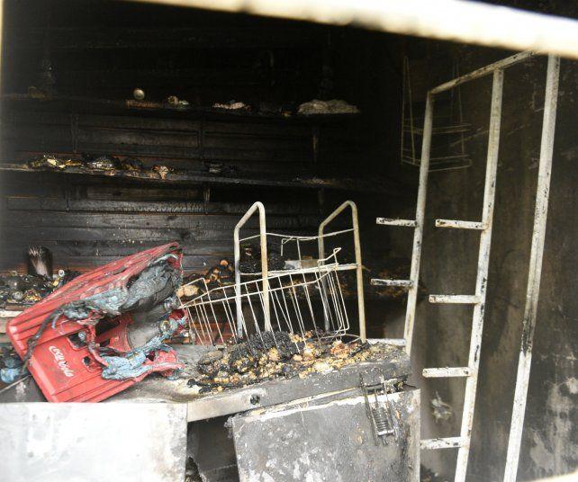 El incendio ocurrió en una vivienda de barrio Rucci.