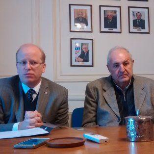 El ministro Contigiani y Guillermo Moretti, de Fisfe (Foto de archivo)
