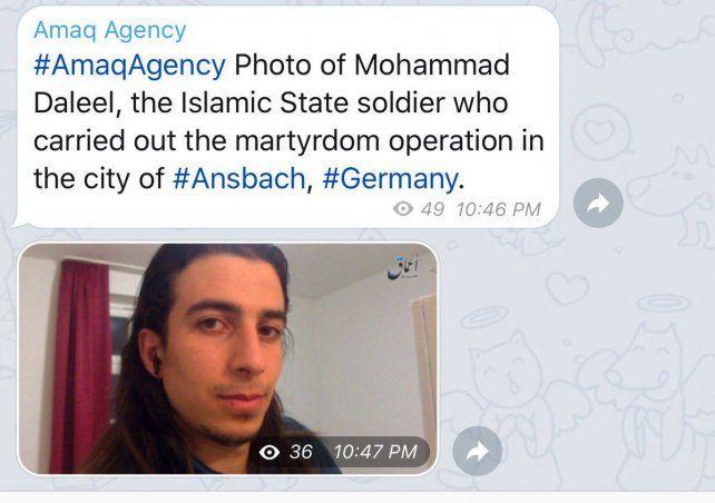 Tuit. El Isis publicó en Twitter la foto del terrorista y su nombre. Realizó una operación de martirio