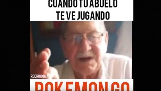 El abuelo que le pide a los jugadores de Pokémon que vayan a buscar trabajo.