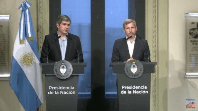 El jefe de Gabinete y el ministro del Interior