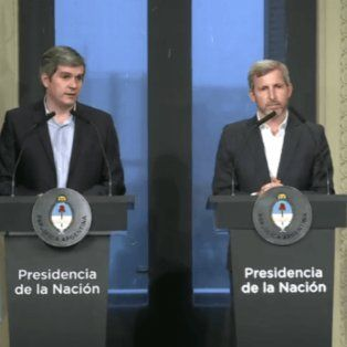 El jefe de Gabinete y el ministro del Interior, Rogelio Frigerio, hicieron anuncios esta mañana.