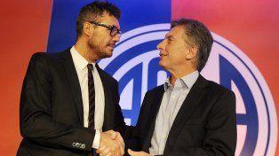 Marcelo Tinelli y Mauricio Macri, en los buenos viejos tiempos.