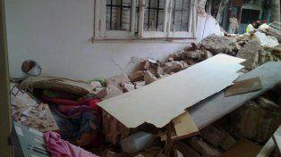 La casa. Fue impactante la destrucción de la vivienda de la familia Sánchez.