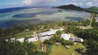 El complejo está ubicado en la isla Kosrae
