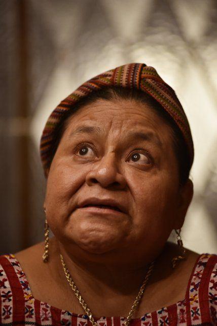 La dirigente guatemalteca.