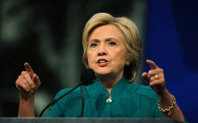 Ya está nominada. La candidata demócrata aspira a convertirse en la primera mujer presidenta de EEUU.