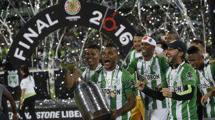 Atlético Nacional celebra la consagración de la Copa Libertadores de América.