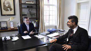 reunión en olivos. El presidente y el conductor más exitoso de la TV se reunieron en Olivos para zanjar diferencias.