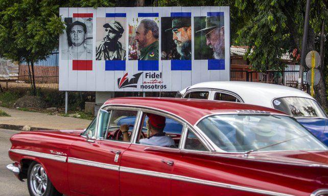 Símbolo. En Cuba hay carteles exaltando la figura de Fidel