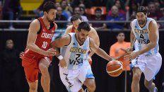 en la previa de los juegos olimpicos, argentina vencio a croacia en el inicio del super 4