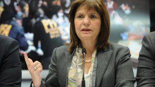 La ministra de Seguridad nacional, Patricia Bullrich.