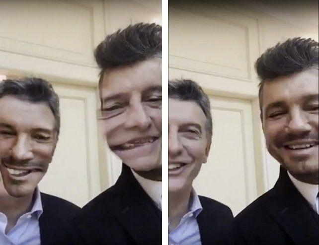 Intercambio. Macri y Tinelli juegan por las redes sociales tras el encuentro.